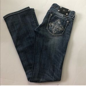 Miss Me Size 26 Boot Cut Jeans JP5342B2 Bling